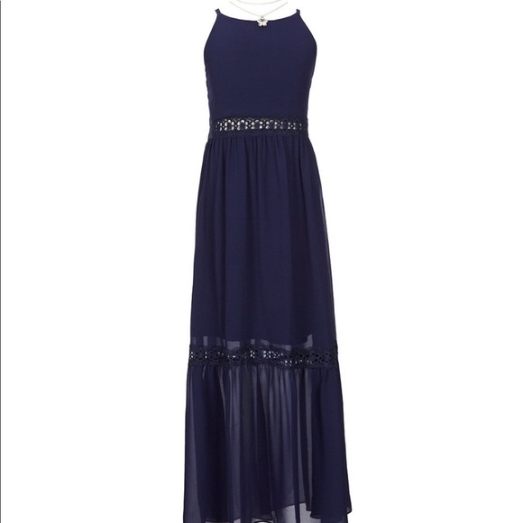 3fa2daa6e6f4 Amy Byer Dresses   Girls Navy Maxi Dress Nwt   Poshmark